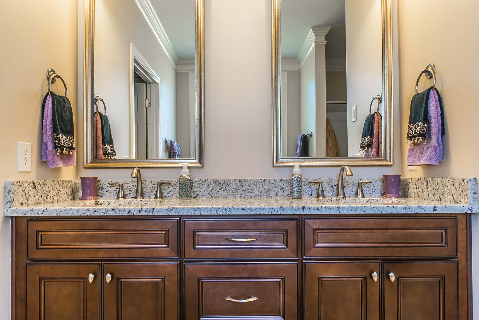 Bathroom vanities affordable luxury in Saddle Brown at East Coast Granite & Marble