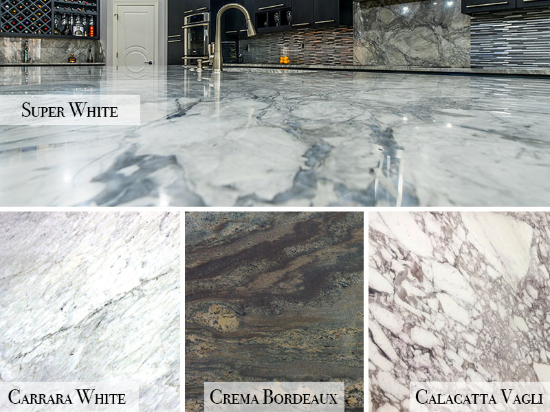 Marble Countertops Can Be Finished With Several Styles