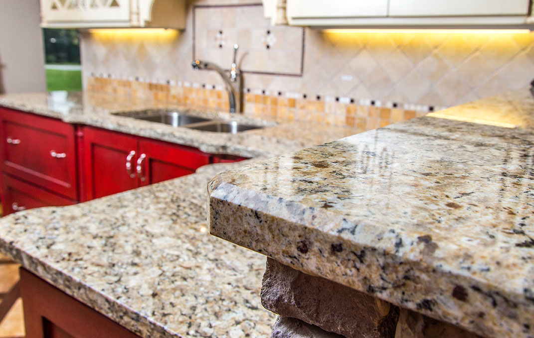 St. Cecelia granite brings a light and airy feel to any room with its mixture of neutral and warm tones